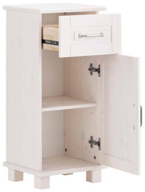 Stojąca szafka łazienkowa z drewna sosnowego