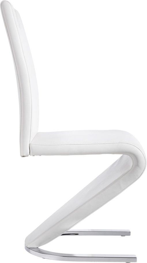 Stylowe krzesła ze skóry ekologicznej, białe - 2 sztuki