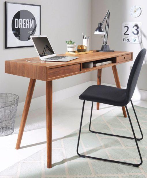 Praktyczne biurko w skandynawskim stylu z dodatkową szufladą na dokumenty