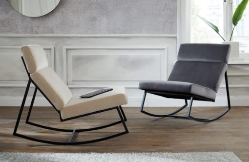 Designerski i szalenie wygodny fotel bujany