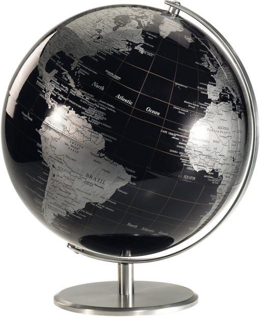Piękny i unikalny globus w ciemnej kolorystyce