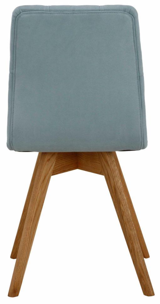 Zestaw czterech nowoczesnych krzeseł z pięknym tapicerowaniem