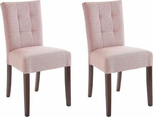 Eleganckie, tapicerowane krzesła, w kolorze rosa - 4 sztuki