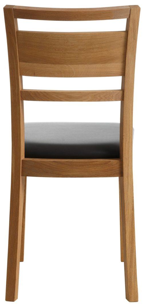 Eleganckie krzesła z dębu, z tapicerowanym siedziskiem - 2 sztuki