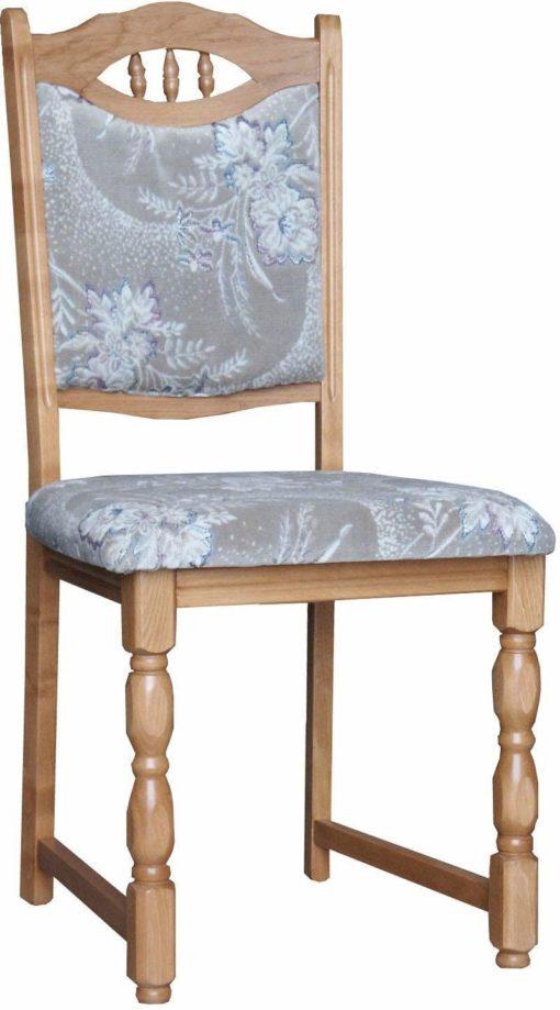 Eleganckie, tapicerowane krzesła z toczonymi nogami - 2 sztuki