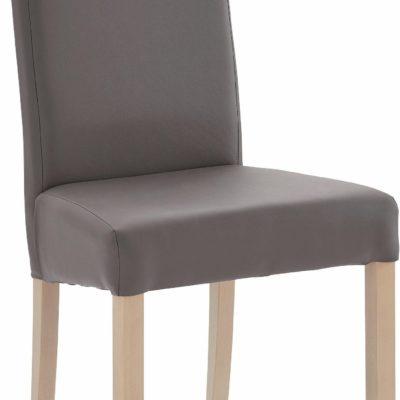 Eleganckie i stylowe krzesła obszyte skórą ekologiczną - 2 sztuki
