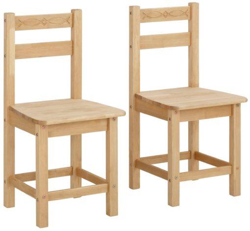 Ponadczasowe, sosnowe krzesła - 2 sztuki