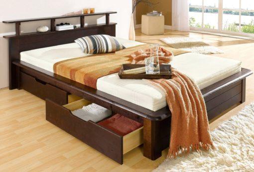Łóżko w rustykalnym stylu, z litego drewna 160x200 cm