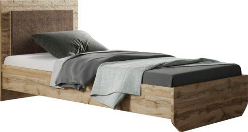 Piękne łóżko z ciekawym nadrukiem 90x200 cm