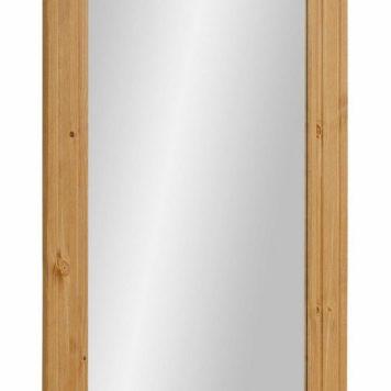 Duże lustro ścienne, drewniana rama z sosny