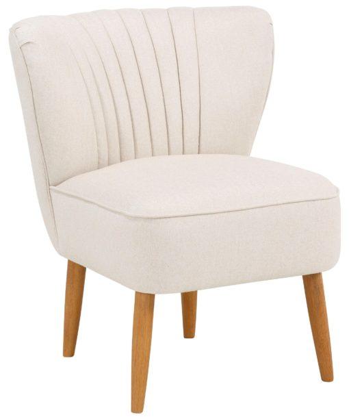 Atrakcyjny fotel w kolorze beżowym