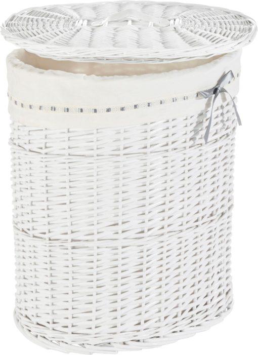 Ozdobny i praktyczny, rattanowy koszyk na pranie