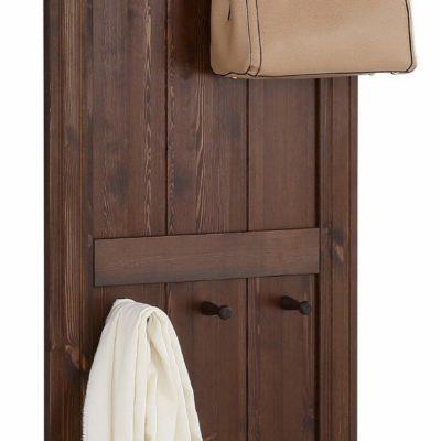 Piękny panel z litego drewna, z półką