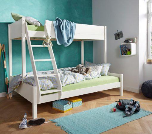 Ciekawe łóżko piętrowe z drabiną