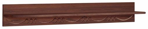 Frezowana półka ścienna z sosny, kolor kolonialny