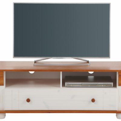 Świetna szafka pod telewizor, biel/ wiśnia