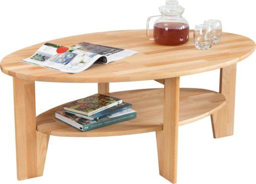 Piękny owalny stolik kawowy z półką