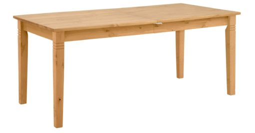 Sosnowy, rozkładany stół 160 cm, drewno olejowane