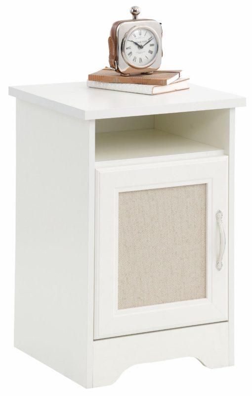 Minimalistyczna szafka nocna z wkładką dekoracyjną