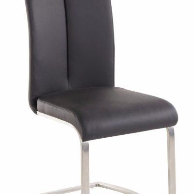 Stylowe krzesła na płozach, ze sztucznej skóry - 2 sztuki