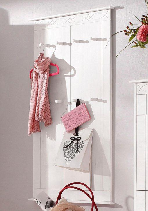 Piękna sosnowa garderoba, wieszak ze zdobieniami