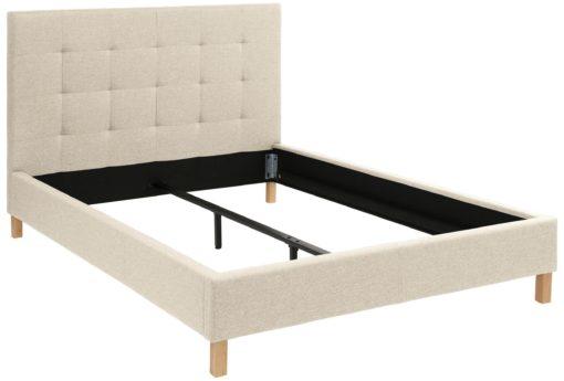 Tapicerowane łóżko 140x200 cm w kolorze kremowym