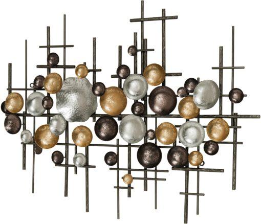 Piękna, metalowa dekoracja o ciekawej konstrukcji