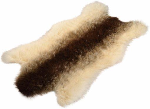 Futrzany dywan w kształcie koziej skóry