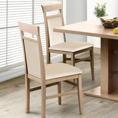 Klasyczne, beżowe krzesła - komplet 2 sztuki