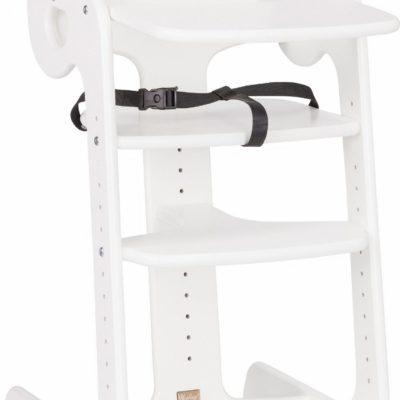 Bukowe wysokie krzesełko dla dziecka z regulacją wysokości