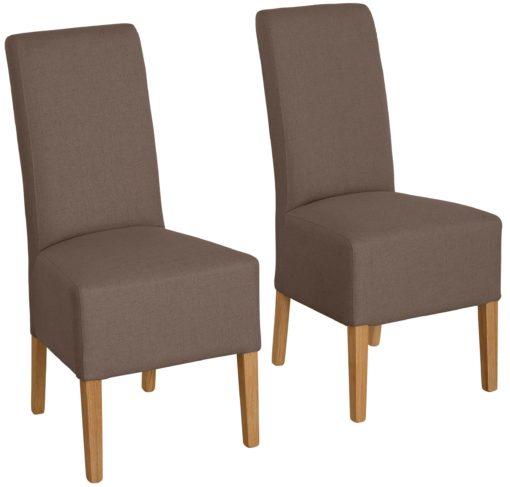 Nowoczesne krzesła w odcieniach brązu - 6 sztuk