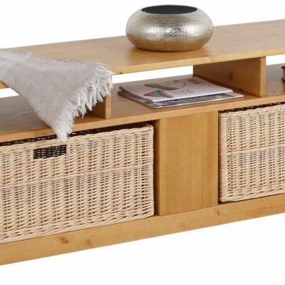 Funkcjonalna ławka z sosny, idealna do sypialni i korytarza