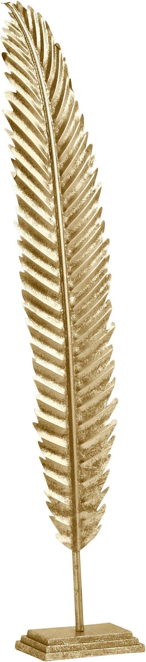 Wspaniała dekoracja: złoty liść na podstawie