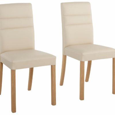 Eleganckie krzesła Lona - zestaw 2 sztuki