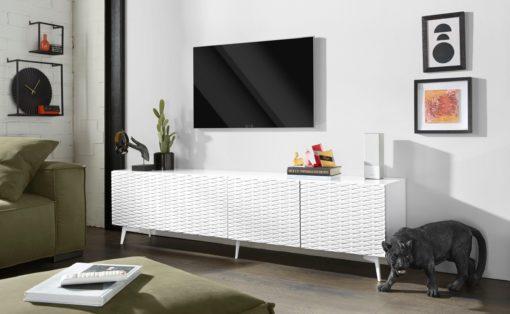 Duża szafka pod telewizor z frontami 3D