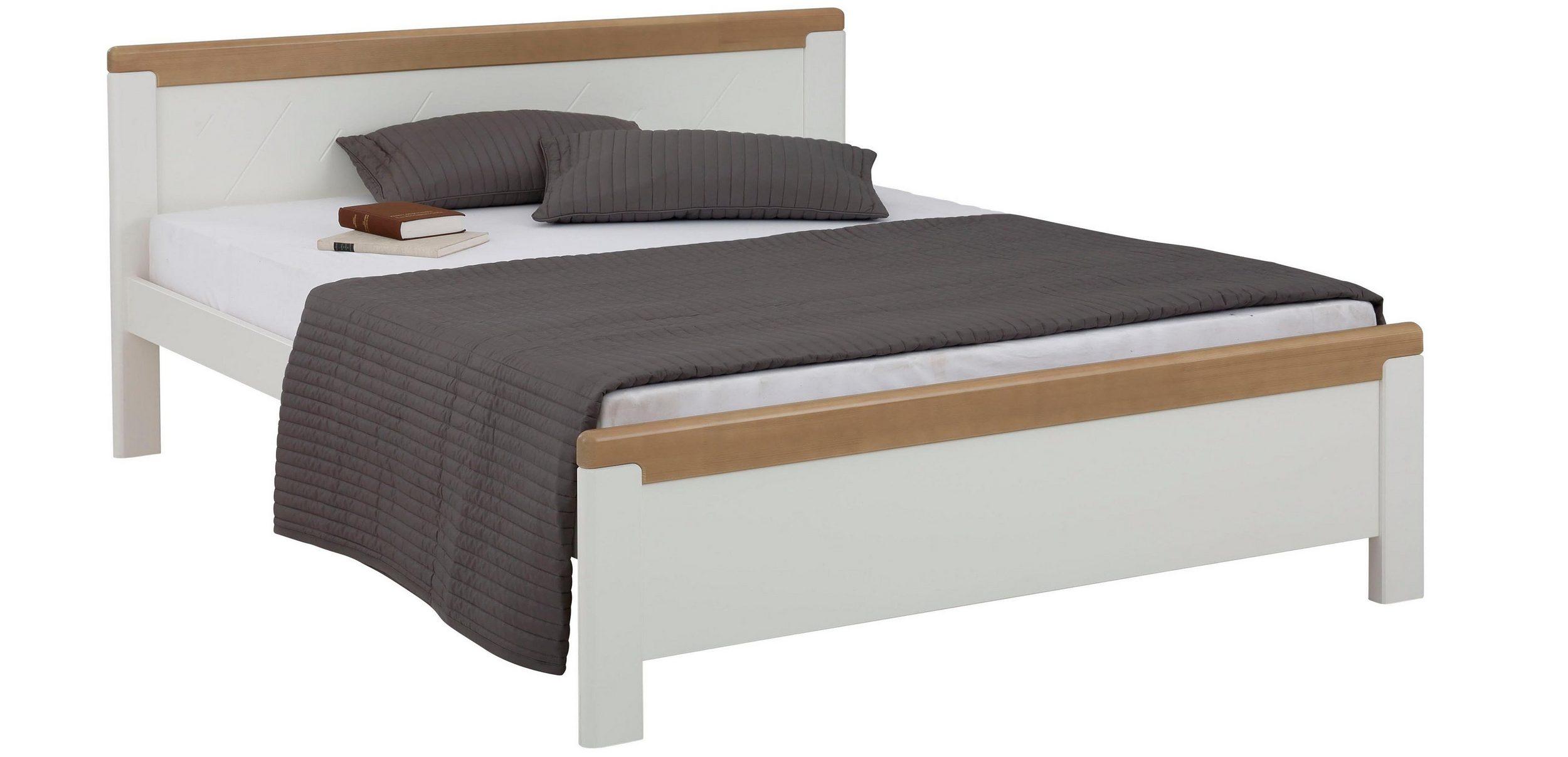 Wygodne Drewniane łóżko W Stylu Rustykalnym 180x200 Cm