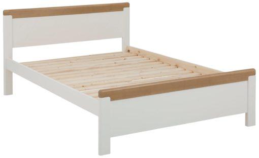Wygodne, drewniane łóżko w stylu rustykalnym, 180x200 cm