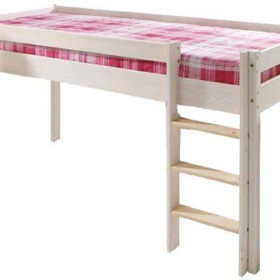 Wysokie łóżko dziecięce z drabinką, 90x200 cm