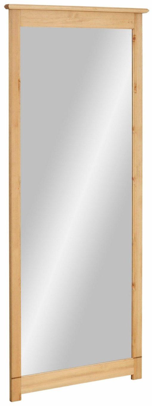 Duże lustro ścienne w drewnianej ramie