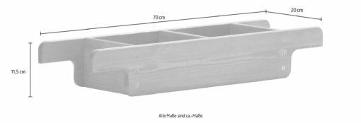 Praktyczna, sosnowa półka na wannę