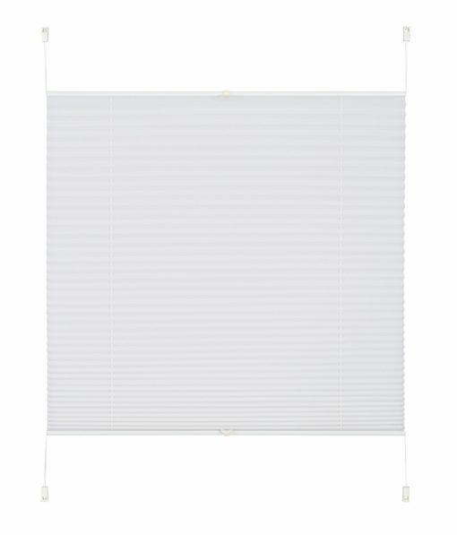 Plisowana roleta 100 cm, biała, bez wiercenia