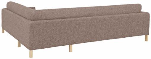 Elastyczny pokrowiec na sofę narożną, w kolorze brązowym