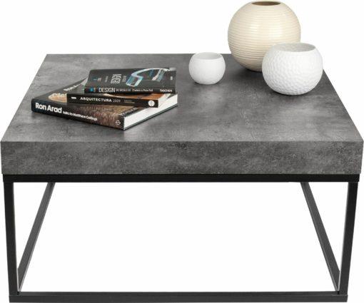 Minimalistyczny stolik kawowy w kolorze betonu