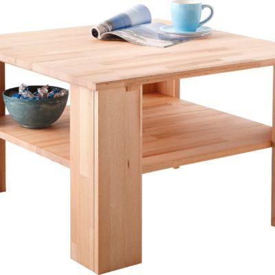 Szykowny stolik do salonu z drewna bukowego