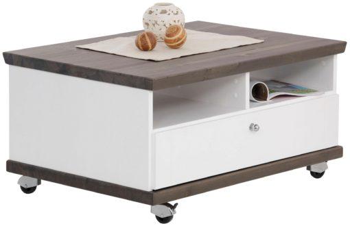 Stolik kawowy na kółkach, dewniany