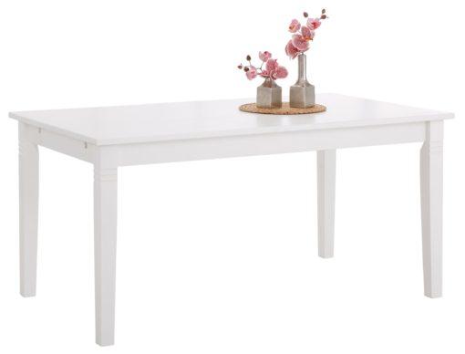 Sosnowy stół 140 cm, biały