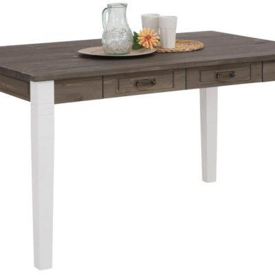 Atrakcyjny stół z litego drewna z szufladami, 180 cm