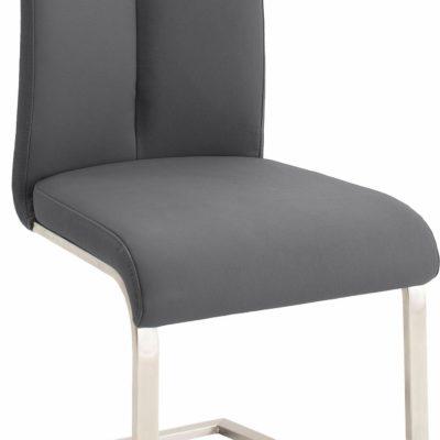 Fotele/krzesła bujane ze skóry, na płozach - 2 sztuki