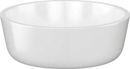 Okrągła, ceramiczna umywalka