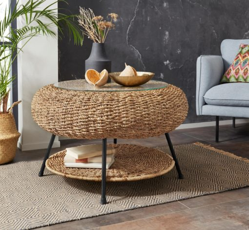 Oryginalny stolik kawowy z hiacyntu wodnego